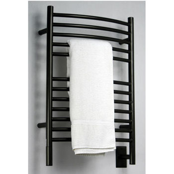 Amba Towel Warmers Jeeves Model E Curved, Oil Rubbed Bronze Finish