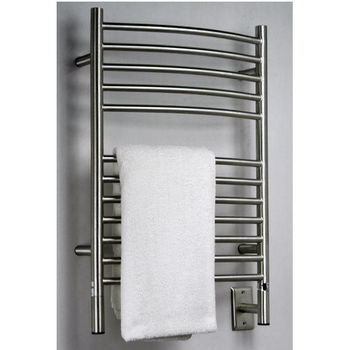 Amba Towel Warmers Jeeves Model E Curved, Brushed Finish