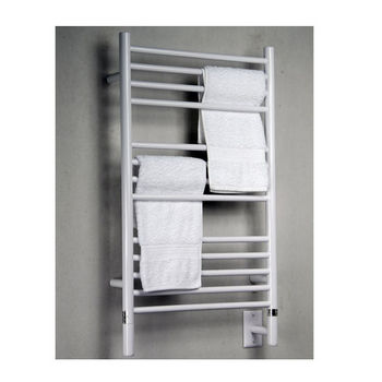 Amba Towel Warmers Jeeves Model C Straight, White Finish