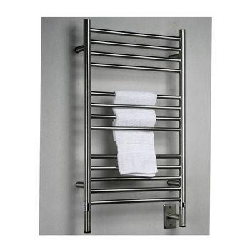 Amba Towel Warmers Jeeves Model C Straight, Brushed Finish