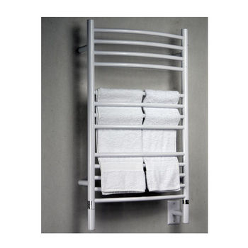 Amba Towel Warmers Jeeves Model C Curved, White Finish
