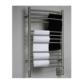 Amba Towel Warmers Jeeves Model C Curved, Brushed Finish