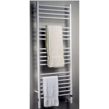 Amba Towel Warmers Jeeves Model D Straight, White Finish