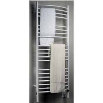 Amba Towel Warmers Jeeves Model D Curved, White Finish