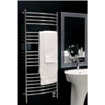 Amba Towel Warmers Jeeves Model D Curved, Polished Finish