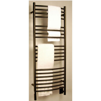 Amba Towel Warmers Jeeves Model D Curved, Oil Rubbed Bronze Finish