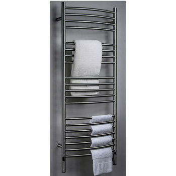 Amba Towel Warmers Jeeves Model D Curved, Brushed Finish