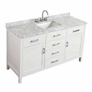 Hampton 43 49 55 Or 61 Wide Single Sink Vanity Set In Grey Or White Includes Vanity Base Countertop Sink And Mirror Option By Belmont Décor Kitchensource Com