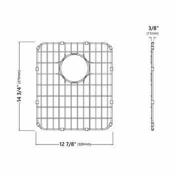 Grid for 17'' Sink Specifications