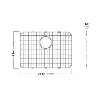 Grid for 23'' Sink Specifications