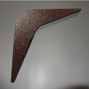 "Best Brackets Imported ADA Workstation Support Standard Steel Bracket 12"" D x 12"" H in Copper, Sold As 6-Piece"
