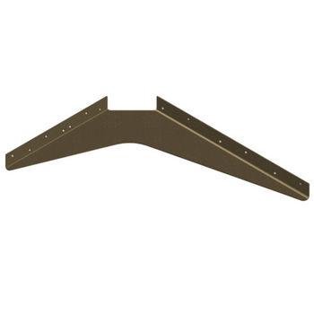 "Best Brackets Imported ADA Workstation Support Standard Steel Bracket 15"" D x 21"" H in Brown, Sold As 6-Piece"
