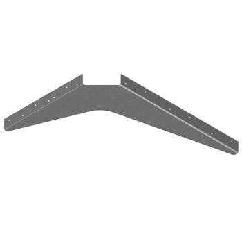 "Best Brackets USA Made ADA Workstation Support Standard Steel Bracket 15"" D x 21"" H in Gray, Sold As 6-Piece"