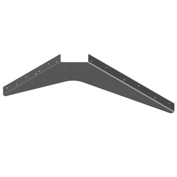 "Best Brackets USA Made ADA Workstation Support Standard Steel Bracket 15"" D x 21"" H in Primer, Sold As 6-Piece"