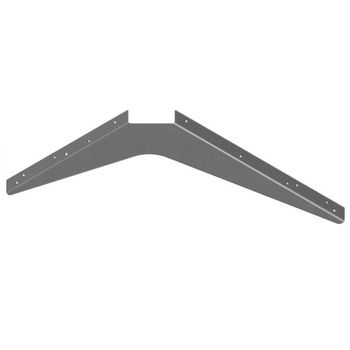 "Best Brackets USA Made ADA Workstation Support Standard Steel Bracket 18"" D x 24"" H in Gray, Sold As 6-Piece"