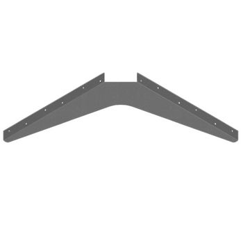 "Best Brackets Imported ADA Workstation Support Standard Steel Bracket 21"" D x 21"" H in Gray, Sold As 6-Piece"