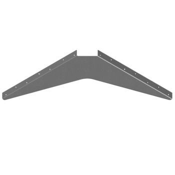 "Best Brackets USA Made ADA Workstation Support Standard Steel Bracket 24"" D x 24"" H in Gray, Sold As 6-Piece"