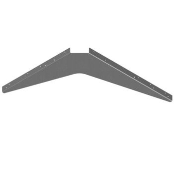 "Best Brackets USA Made ADA Workstation Support Standard Steel Bracket 24"" D x 29"" H in Gray, Sold As 4-Piece"