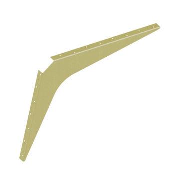 "Best Brackets Imported ADA Workstation Support Standard Steel Bracket 29"" D x 35"" H in Almond, Sold As Pair"