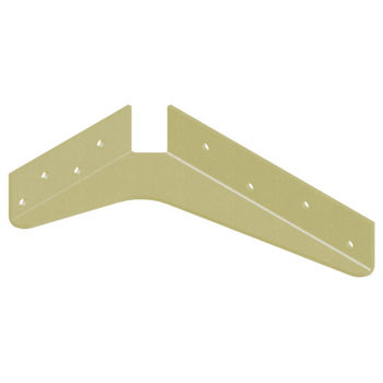 "Best Brackets USA Made ADA Shelf Support Standard Steel Bracket 5"" D x 8"" H in Almond, Sold As 10-Piece"