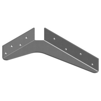 "Best Brackets USA Made ADA Shelf Support Standard Steel Bracket 5"" D x 8"" H in Gray, Sold As 10-Piece"