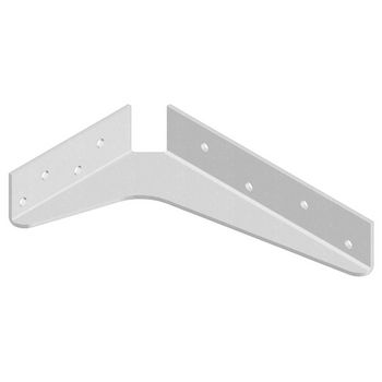 "Best Brackets USA Made ADA Shelf Support Standard Steel Bracket 5"" D x 8"" H in White, Sold As 10-Piece"