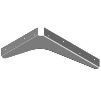 "Best Brackets USA Made ADA Shelf Support Standard Steel Bracket 8"" D x 12"" H in Gray, Sold As 10-Piece"