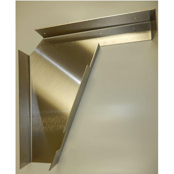 "Best Brackets Imported ADA Vanity Bracket 21"" Aluminum for 22"" to 24"" Countertop, Sold As Pair"