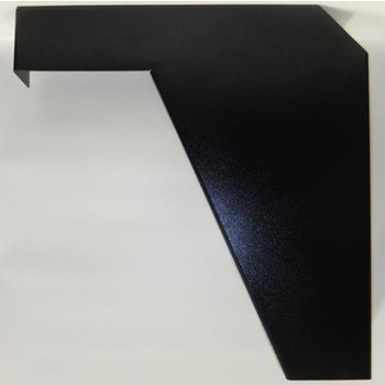 "Best Brackets Imported ADA Vanity Bracket 21"" in Black for 22"" to 24"" Countertop, Sold As Pair"