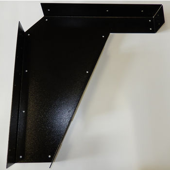 "Best Brackets Imported ADA Vanity Bracket 21"" in Black with Holes for 22"" to 24"" Countertop, Sold As Pair"