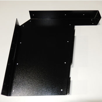 "Best Brackets Imported ADA Vanity Bracket 23"" in Black with Holes for 24"" to 26"" Countertop, Sold As Pair"