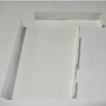 "Best Brackets Imported ADA Vanity Bracket 23"" in White for 24"" to 26"" Countertop, Sold As Pair"
