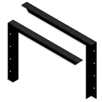 "Best Brackets USA Made Concealed Bracket (2.0 Version) with 24"" Support Arm in Black, Sold As Pair"