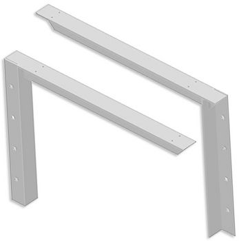 "Best Brackets Imported Concealed Bracket (2.0 Version) with 30"" Support Arm in White, Sold As Pair"