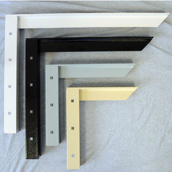 "Concealed Bracket with 9"" to 24'' Support Arm, 2 Pcs. Available in 4 Finishes"