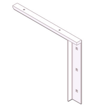 """Best Brackets Imported Concealed Flat Bracket (1.0 Version) with 12"""" Support Arm in White, Sold As Pair"""