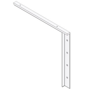 """Best Brackets Imported Concealed Flat Bracket (1.0 Version) with 18"""" Support Arm in White, Sold As Pair"""