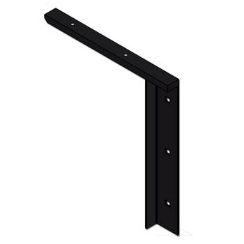 "Best Brackets Imported Concealed Flat Bracket (1.0 Version) with 9"" Support Arm in Black, Sold As Pair"