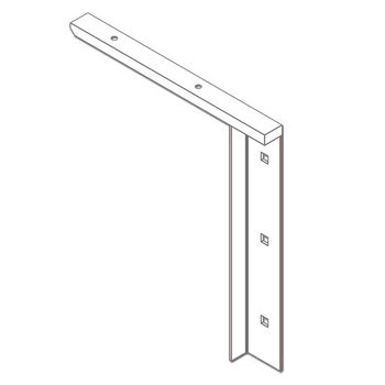 """Best Brackets Imported Concealed Flat Bracket (1.0 Version) with 9"""" Support Arm in White, Sold As Pair"""