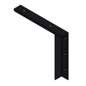 "Best Brackets Imported Concealed Flat Bracket (2.0 Version) with 12"" Support Arm in Black, Sold As Pair"