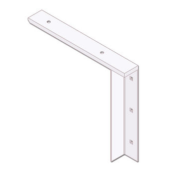 "Best Brackets Imported Concealed Flat Bracket (2.0 Version) with 12"" Support Arm in White, Sold As Pair"