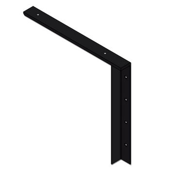 "Best Brackets Imported Concealed Flat Bracket (2.0 Version) with 18"" Support Arm in Black, Sold As Pair"