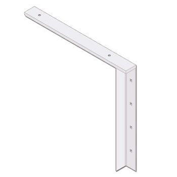 "Best Brackets Imported Concealed Flat Bracket (2.0 Version) with 18"" Support Arm in White, Sold As Pair"