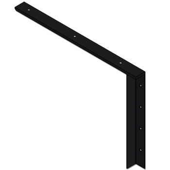"Best Brackets Imported Concealed Flat Bracket (2.0 Version) with 24"" Support Arm in Black, Sold As Pair"
