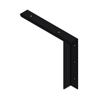 "Best Brackets Imported Concealed Flat Bracket (2.0 Version) with 9"" Support Arm in Black, Sold As Pair"