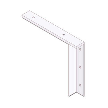"Best Brackets Imported Concealed Flat Bracket (2.0 Version) with 9"" Support Arm in White, Sold As Pair"