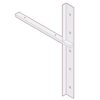 "Best Brackets Imported Extended Concealed Flat Bracket (1.0 Version) with 12"" Support Arm in White, Sold As Pair"