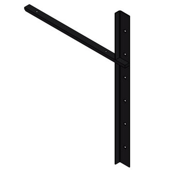 "Best Brackets Imported Extended Concealed Flat Bracket (1.0 Version) with 18"" Support Arm in Black, Sold As Pair"
