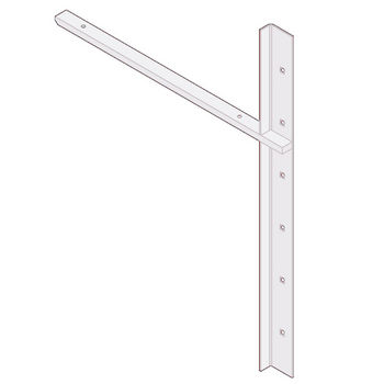 "Best Brackets Imported Extended Concealed Flat Bracket (1.0 Version) with 18"" Support Arm in White, Sold As Pair"