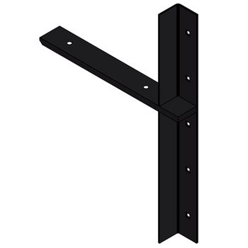 "Best Brackets Imported Extended Concealed Flat Bracket (2.0 Version) with 12"" Support Arm in Black, Sold As Pair"